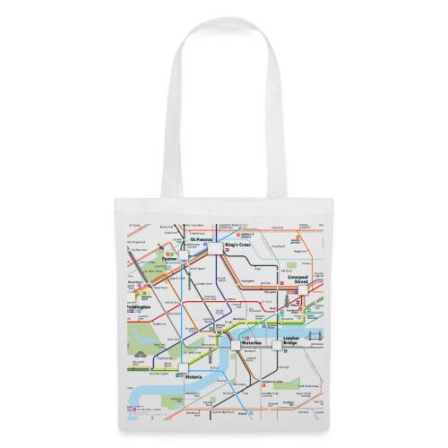 London Map Square - Tote Bag