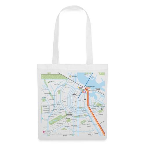 Amsterdam Map Square - Tote Bag