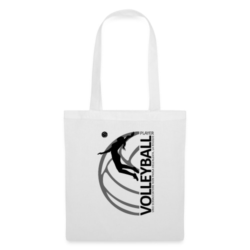 Volleyball player WOMAN black - Borsa di stoffa