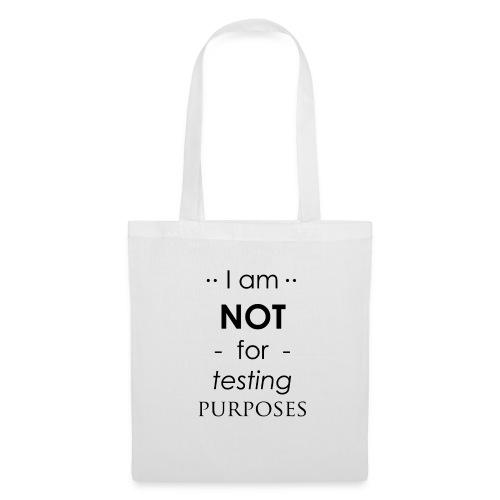 Not for testing!   t-shirt   Meiden/vrouw - Tas van stof