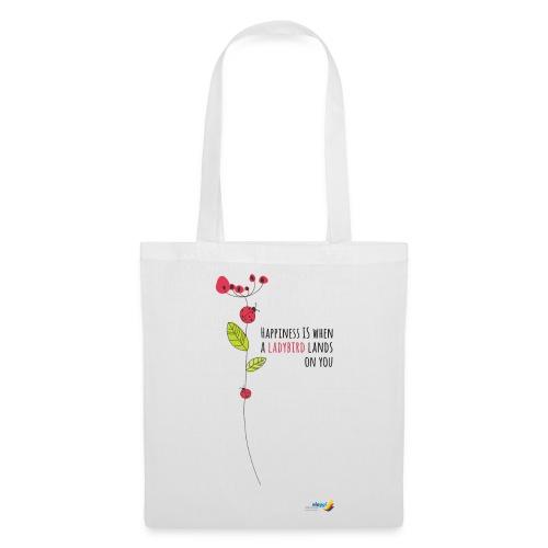Ladybird Women's T-Shirt - white and ecru - Tote Bag