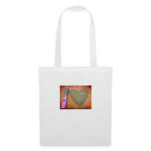cannabis weed heart - Tote Bag