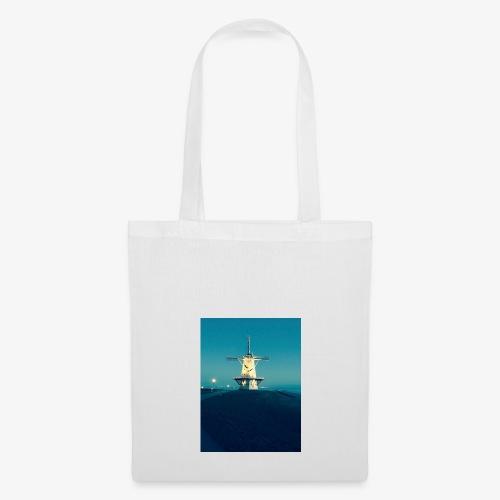 Windmühle an der Küste - Stoffbeutel