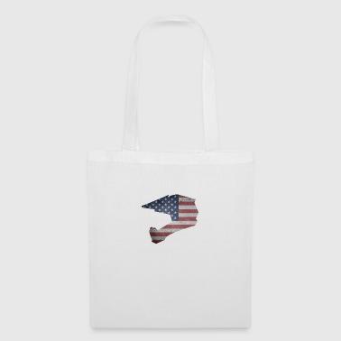 Downhill helmet USA - Tote Bag