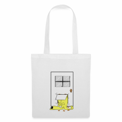 Stuck in a door dog - Tote Bag