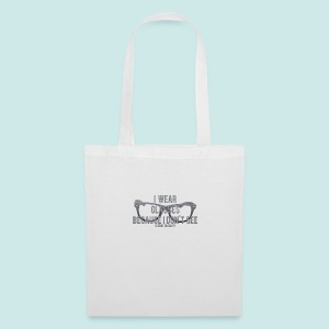 Wearing Glasses - Black - Tote Bag