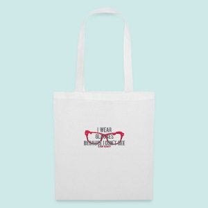 Wearing Glasses - Red - Tote Bag