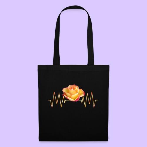 Rose, Herzschlag, Rosen, Blume, Herz, Frequenz - Stoffbeutel