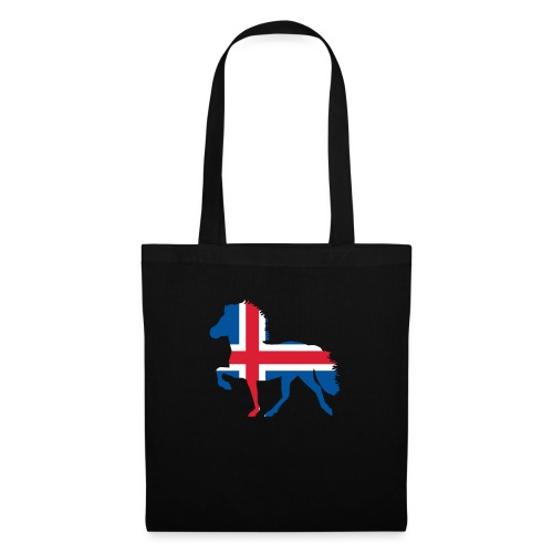 Island Pferd mit Flagge - Stoffbeutel