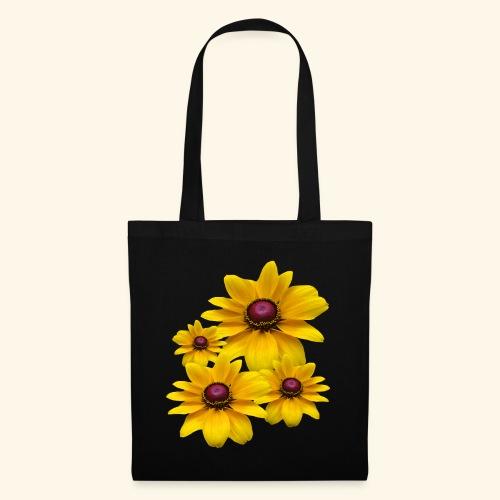 gelb blühende Sonnenhut Blumen, Blüten, floral, - Stoffbeutel