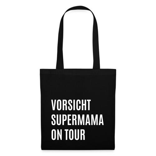 Vorsicht Supermama on Tour - Stoffbeutel