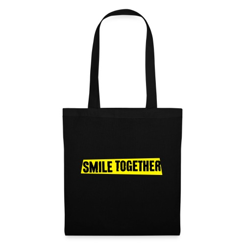 Smile Together Black Yellow - Tote Bag