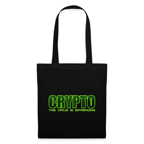Crypto the virus is spreading green logo - Tote Bag