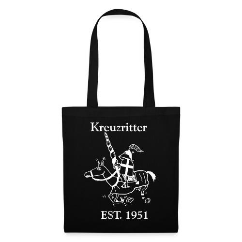 Kreuzritter Logo mit Schrift - Stoffbeutel