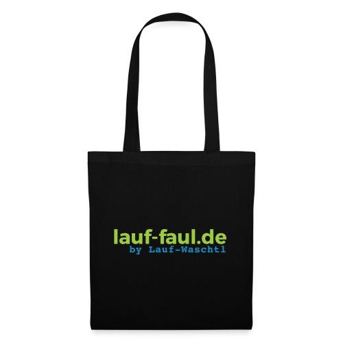 lauf-faul.de - beidseitig - Stoffbeutel