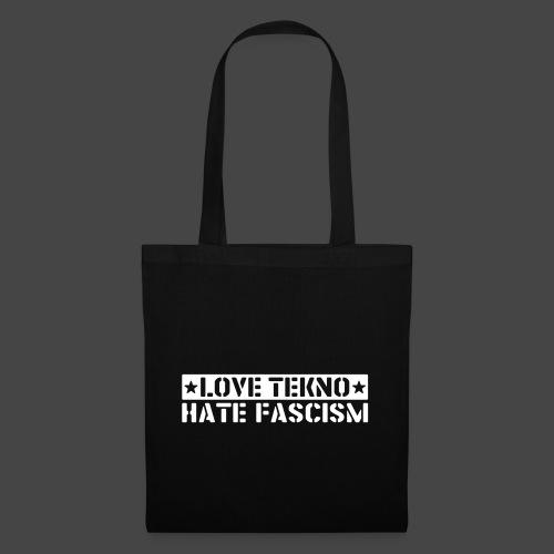 239003 - LOVE TEKNO HATE FASCISM - Tote Bag