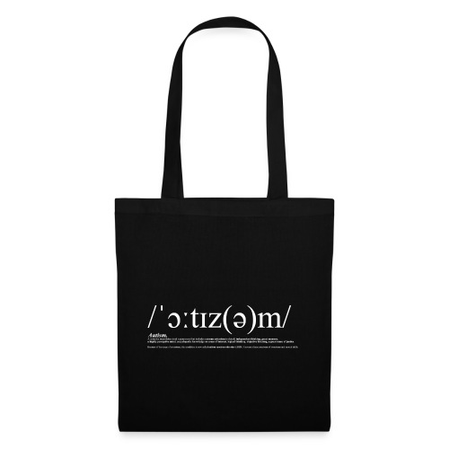 AUTISM WHITE - Tote Bag