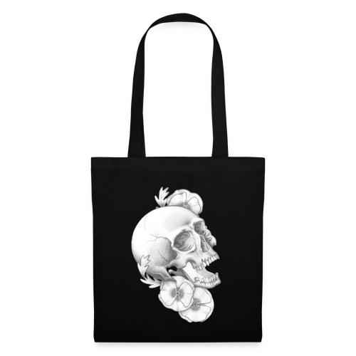 poppy skull - Stoffbeutel