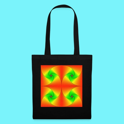 Pursuit curves in red and green - Tote Bag