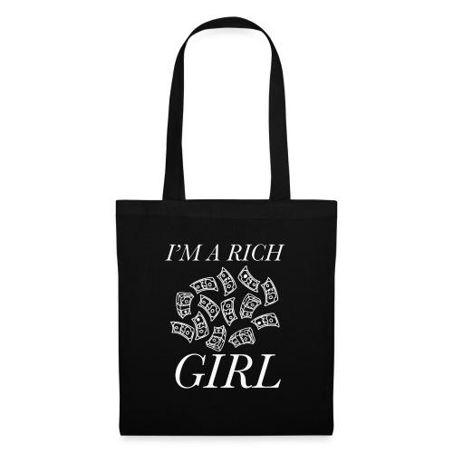 powerful I'm a rich girl T-shirt - Borsa di stoffa
