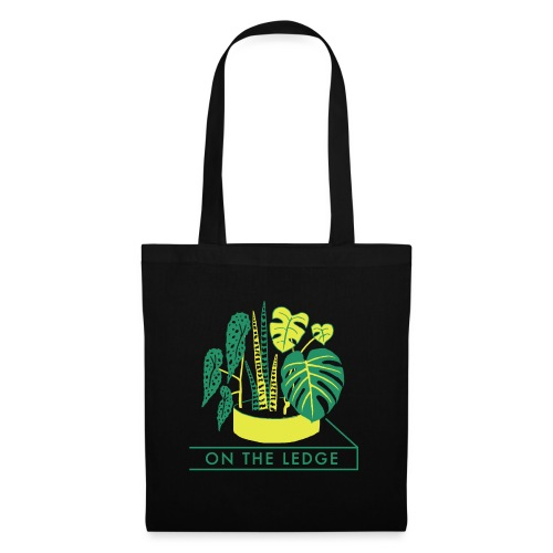 On The Ledge green logo print - Tote Bag