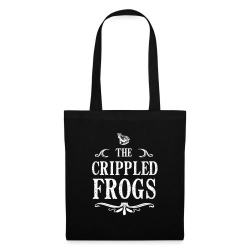 Logo The Crippled Frogs Blanc - Sac en tissu