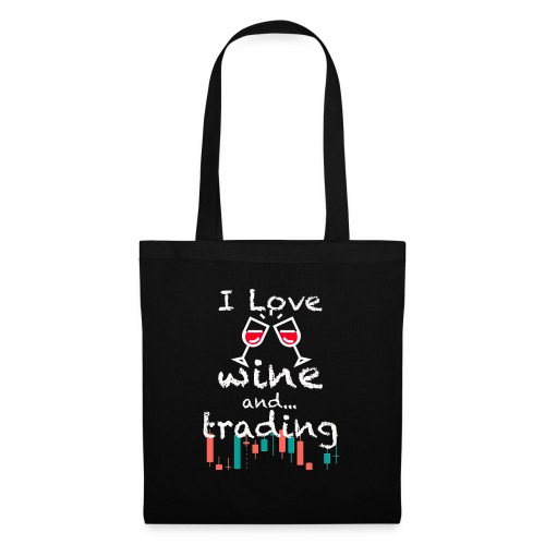 Trader Forex Wallstreet Stock market RedWine Glass - Borsa di stoffa