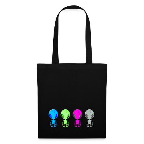 Multicolored Aliens - Tote Bag