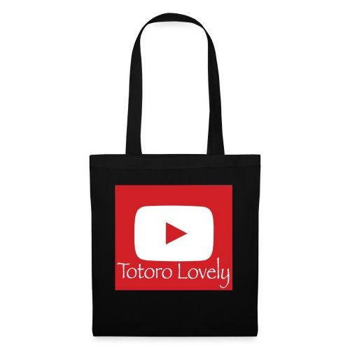 Totoro Lovely + YT logo bak, fram - Tygväska