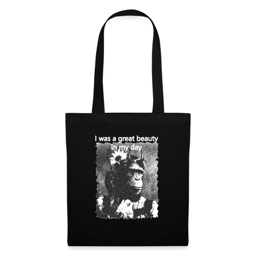 Funny Chimpanzee Old Age Joke Design - Tote Bag