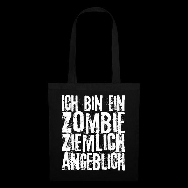 Halloween Sprueche Zombies.Spruch Ich Bin Ein Zombie Ziemlich Angeblich 2 Stoffbeutel Eddarts