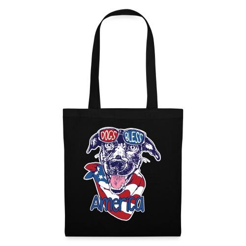 Hund und Hunde segnen Amerika Illustration - Stoffbeutel