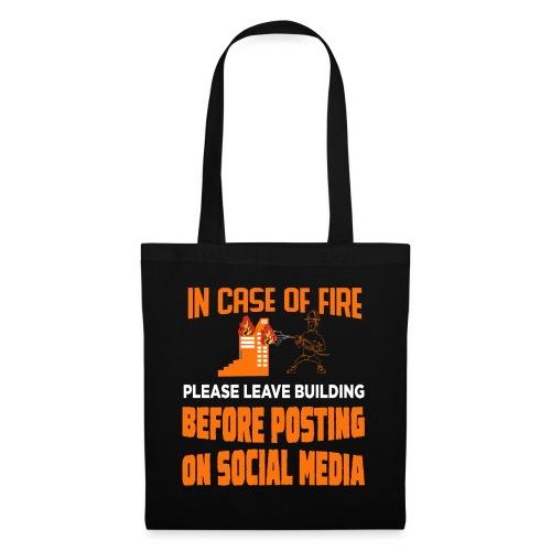 Wenn es brennt das Gebäude verlassen ohne posten - Stoffbeutel