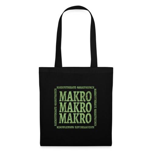 Wort Makro Makrofotografie Nahaufnahme mit Muster - Stoffbeutel