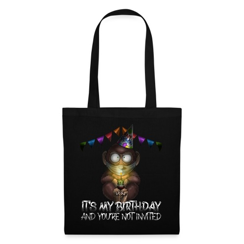 Quarantine Birthday | Monkey Social Distance - Borsa di stoffa