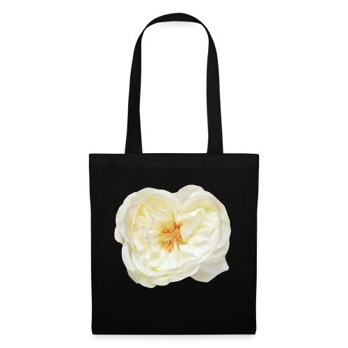 Weiße Rose Blume Blüte - Stoffbeutel