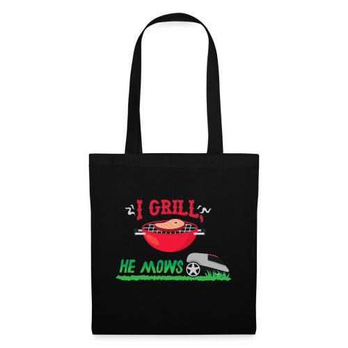I Grill He Mows Grillschürze - Stoffbeutel