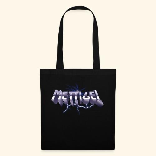 Mettigel T Shirt Design Heavy Metal Schriftzug - Stoffbeutel