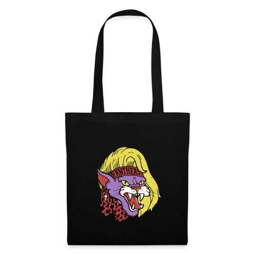 Fanther-Panther on black - Tote Bag