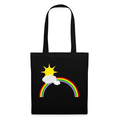 Regenbogen, Sonne, Wolken - Stoffbeutel