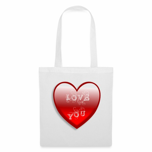 Love You - Stoffbeutel