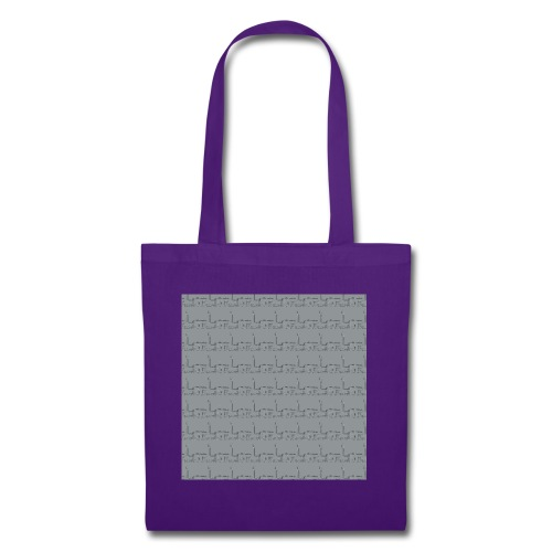 helsinki railway station pattern gray - Tote Bag