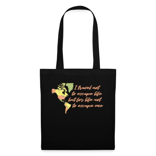All in Life Traveling Map with Phrase - Borsa di stoffa