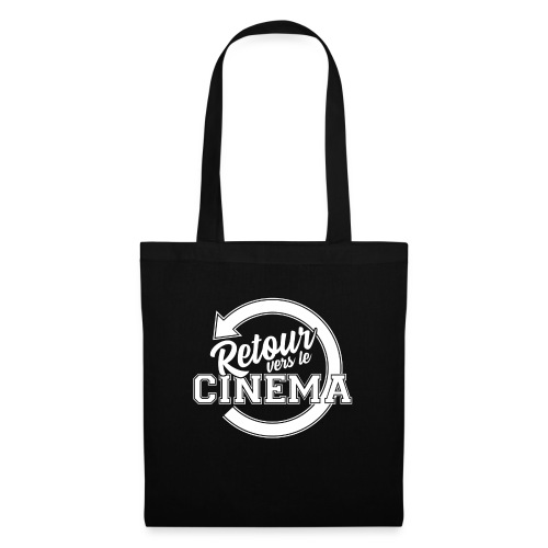 Logo blanc Retour vers le Cinéma - Sac en tissu