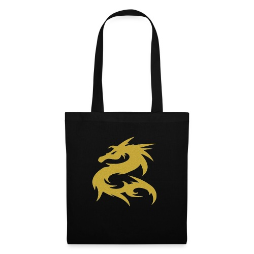 Dragon color de oro - Bolsa de tela
