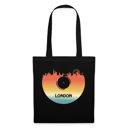 London Skyline Vinyl Schallplatte London Souvenir - Stoffbeutel