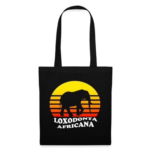 LOXODONTA AFRICANA (für dunklen Untergrund) - Stoffbeutel