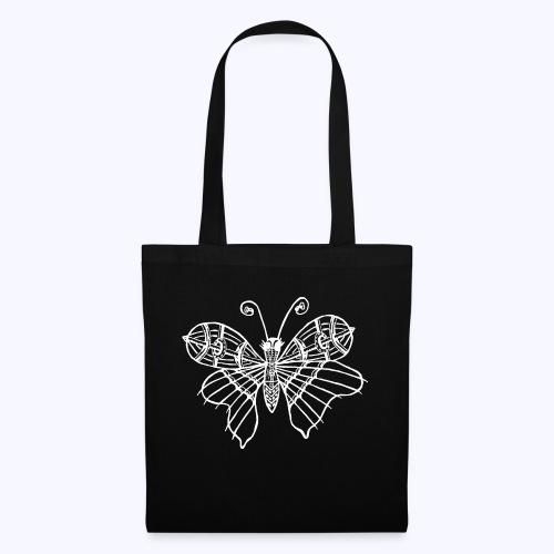 Schmetterling weiss - Stoffbeutel