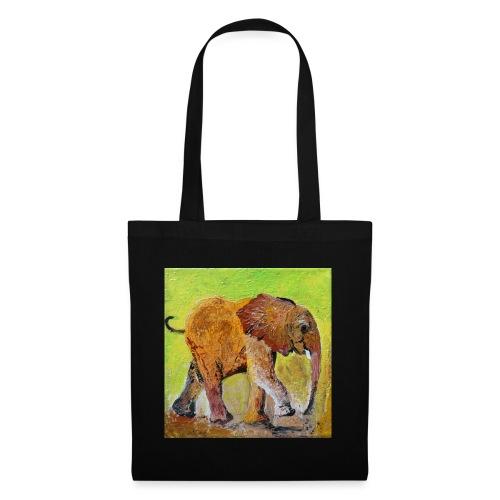 Junger Elefant - Malerei - Stoffbeutel