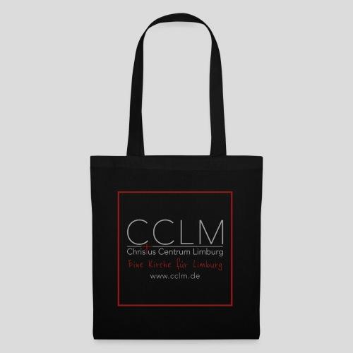 CCLM Logo Rahmen Slogan web - Stoffbeutel